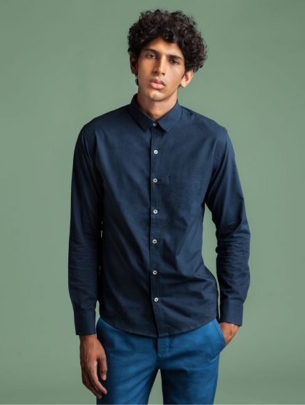 Dark Indigo Men Shirt Indigenous Industries