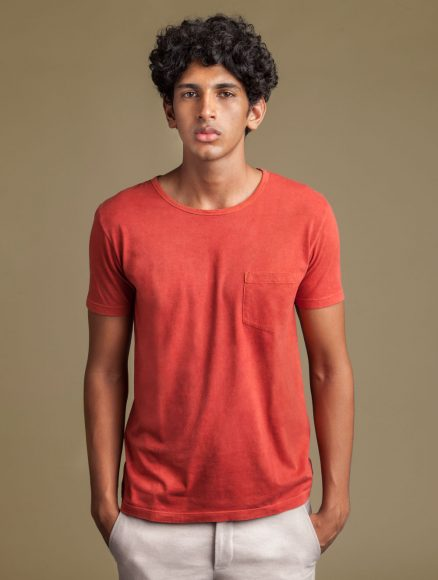 Men Madder Red Tee Indigenous