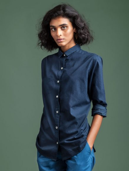 Dark Indigo Women Shirt Indigenous