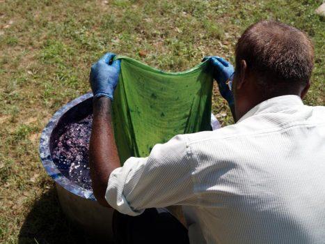 Jeetu bhai dyeing scarf Indigenous