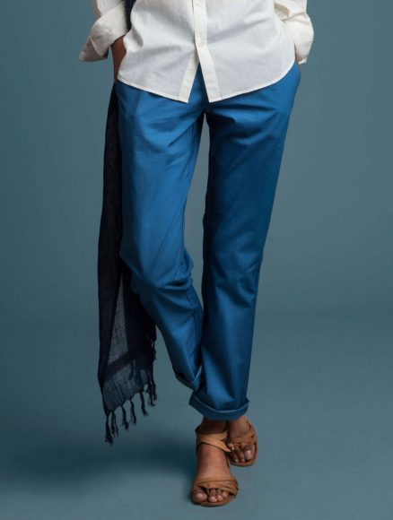 Women Chinos Medium Indigo Indigenous
