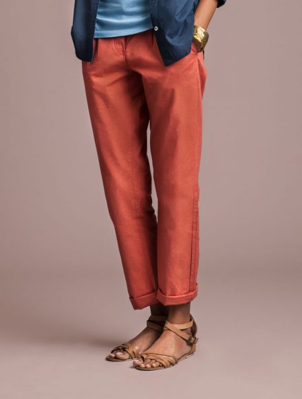 Women Chinos Madder Red Indigenous