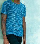Lines and Dots Batik Tee Medium Indigo for Men