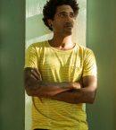 Lines and Dots Batik Tee Yellow Myrobalan for Men
