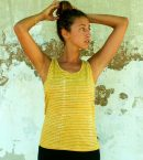 Lines and Dots Batik Tank Yellow Myrobalan for Women