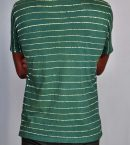 Striped Batik Tee Marine Green for Men Back
