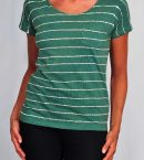 Striped Batik Tee Marine Green for Women